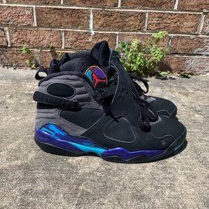 c1f1f32596c175 Nike Air Jordan Retro 8 Aqua Sneakers Size 10